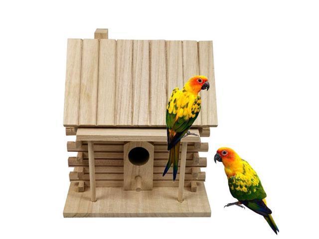 Wooden Bird House Warm Bird Breeding Box Outdoor Nest Hut Pet Toy (Heavy Machinery) photo
