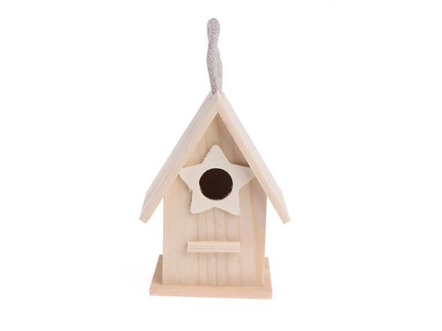 Wooden Garden Little Birds Wood Nesting House Nest Home Pet Supply Accessories (Heavy Machinery) photo