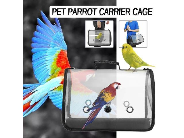 Bird Travel Cage Bird Cage Parrot Carrier Transparent Breathable Parrot Handbag Birds Outdoor C Pet Supplies for Bird Nest House (Heavy Machinery) photo