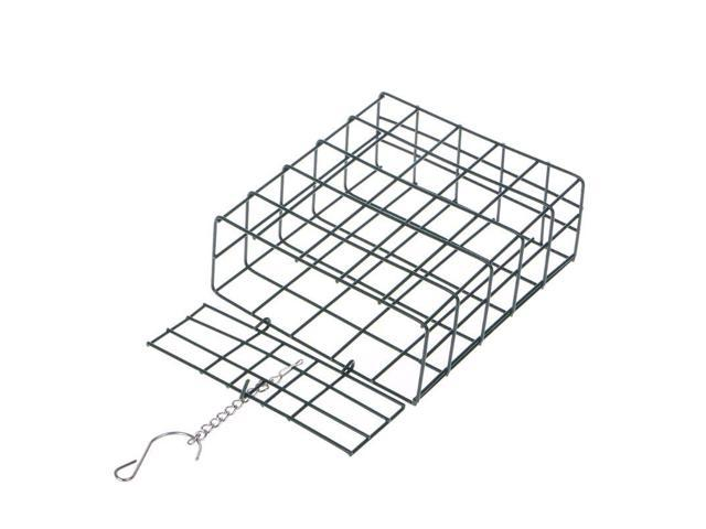 Bird Feeder Green Cube Cage Food Container Outdoor Wild Birds Parrot Feeding Hanging Tree Portable Fruit Vegetable Park Garden (Heavy Machinery) photo