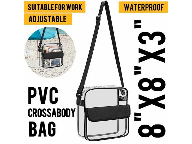 Womens Transparent Handbag Tote Messenger Bag Clear Jelly Purse Crossbody Bag US (Luggage & Bags Laptop Bags & Cases) photo
