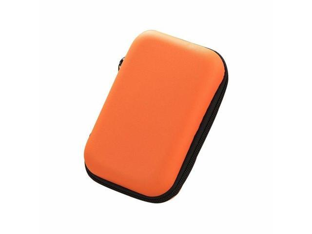 Mini Coin Purse Wallet Earbud Cable Storage Case Box Organizer Holder Orange (Electronics Computers Computer Accessories Pda Accessories) photo