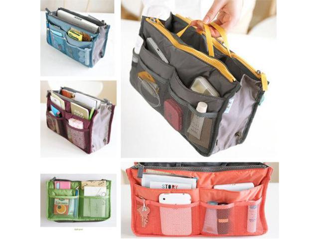 1Pcs Women Lady Travel Organizer Pouch Insert Handbag Organiser Purse Large Liner Comestic Organizer Case Container Space Saver (Electronics Computers Handheld Devices Pdas) photo