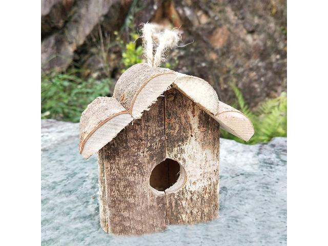 Handmade Wooden Birdhouse Bird Hanging Home House Garden Patio Outdoor Crafts High quality (Electronics Computers Handheld Devices Pdas) photo