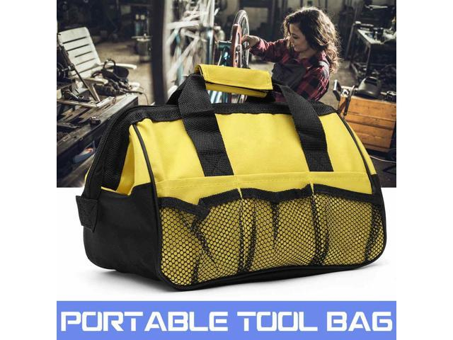 Tool Bag Hard Bottom Heavy Toolbag With Mulpockets For Tool Storage Appliance Repair Kit 31x18x22cm photo