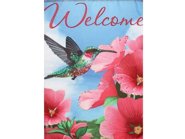 45X30cm Mini Welcome Flags Garden Yard Banner Display Bird & Flowers House Fashion Indoor Outdoor Hanging Decoration (Electronics Computers Handheld Devices Pdas) photo