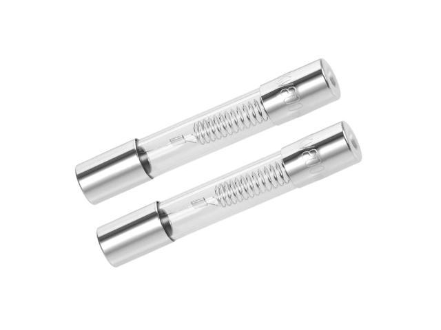 uxcell Microwave Oven Cartridge Fuses 0.8A DC 5000V 6x40mm Quick Blow Glass 2pcs photo