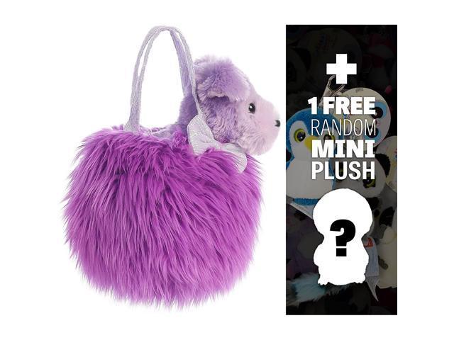 Fluffy Lavender w/ Pup: Fancy Pals Mini-Plush Purse Pet Carriers Series + 1 Free Aurora Mini-Plush Charm Bundle [327825] (921468314587 Baby & Toddler) photo