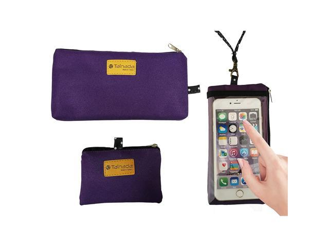 Tainada Smartphone Purse Pouch Bag with Clear View Window Touch Screen & Neck Strap Lanyard Compatible with Most of Smartphones +Bonus ID Window. (921465836549 Electronics Communications Telephony Mobile Phone Cases) photo