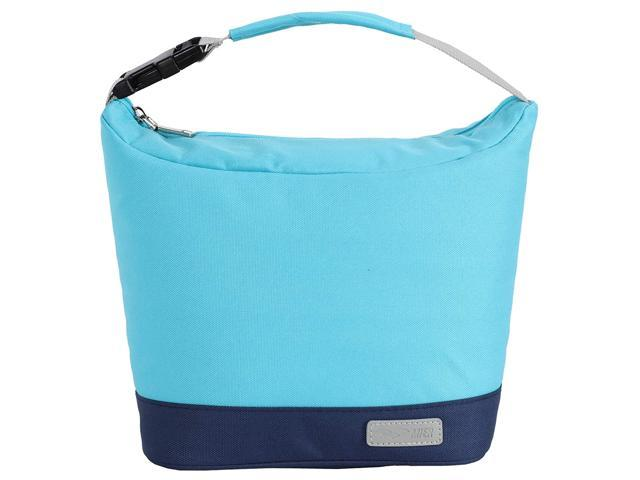 MIER Small Lunch Bag Purse Insulated Leakproof Cooler Lunch Tote for Kids Girls Boys Women Men to School Work Travel Gym, Buckle Handle, Blue (921468658384 Home & Garden Household Supplies) photo