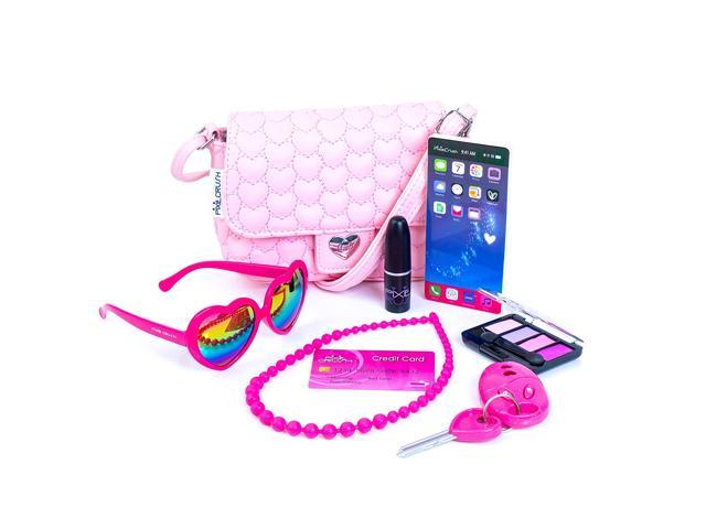 PixieCrush Pretend Play Purse & Makeup for Girls - Fun Little Girl Cosmetics Toys Set with Pretend Makeup, Eyeshadow, Cell Phone, Kids Lipstick. (921468819044 Toys & Games) photo
