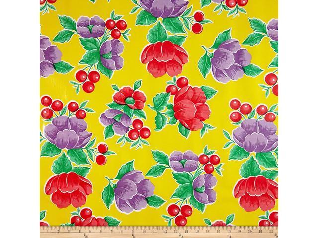 OilCloth International Oilcloth Poppy, Yard, Yellow (921464174192 Home & Garden Decor Napkin Rings) photo