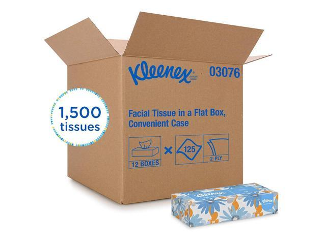 Kleenex Professional Facial Tissue for Business (03076), Flat Boxes, 12