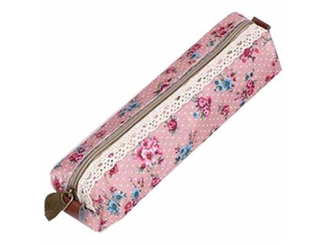 Floral Lace Pen Pencil Cosmetic Zipper Storage Case Pouch Bag Purse Pink (Electronics Computers Handheld Devices Pdas) photo