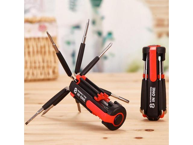 8 in 1 Multi Screwdriver With 6 LED Torch Hand Repair Tools Up Multi Functional for Home Appliance Car With 7 Screw Heads photo