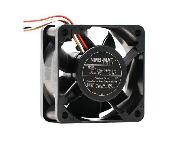 NMB 2410SB-04W-B75 12V 0.26A 60*60*25MM 6MC 4 Lines drum washing machine cooling fan photo