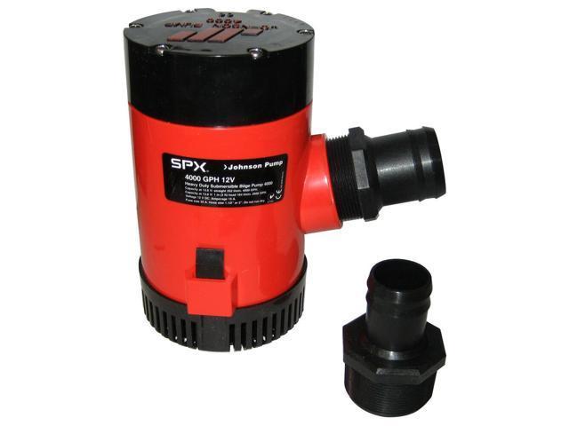 Johnson Pump 4000 GPH Bilge Pump 1-1/2' Discharge Port 12V photo