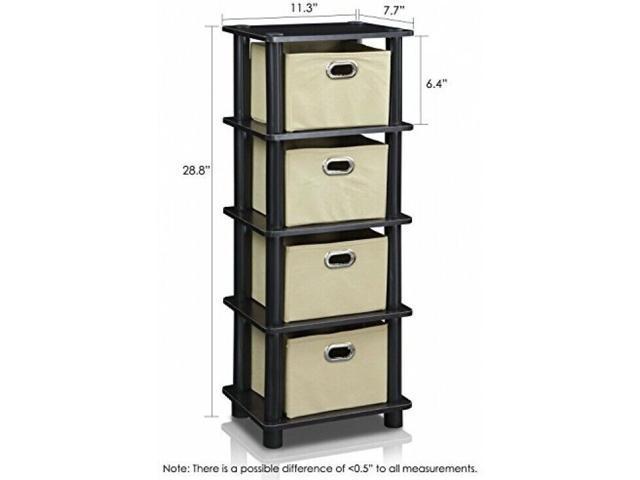 Neweggbusiness 4 Drawer Dresser Bedroom Storage Bins Furniture Chest Hamper Sturdy Bin Rack
