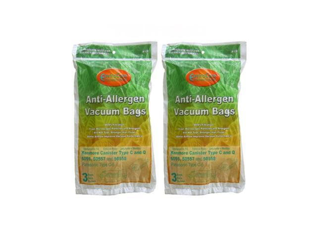 6 HEPA Bag Allergy C & Q Kenmore 50558 50557 Simplicity 8100 Riccar 2400 Vacuum photo
