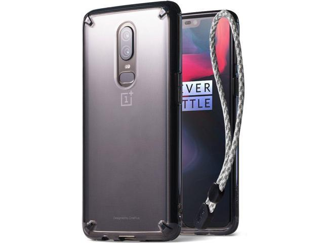 OnePlus 6 Case, Ringke [Fusion] Crystal Clear PC Back Case [Anti-Cling Dot Matrix Technology] Lightweight Upgraded Transparent TPU Bumper Drop. (Electronics Communications Telephony) photo