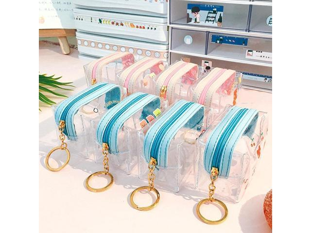 Cute transparent coin purse Transparent PVC Wallet Girl Purse Case Cards Business Sum Glitter with Lanyard Women Fashion Y2G5 (Electronics) photo