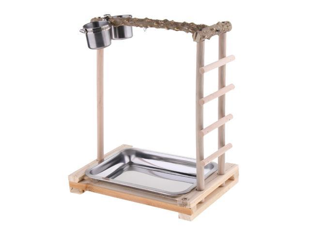 Parrot Toys Climbing Playground Bird Shelf Pepper Wood Stand with Feeder (694810714457 Hardware Tools Saws Table Saws) photo