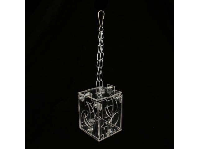 Clear Acrylic Parrot Bird Cage Feeder Hang Foraging Toys Bird Supplies (703656704062 Hardware Tools Saws Table Saws) photo