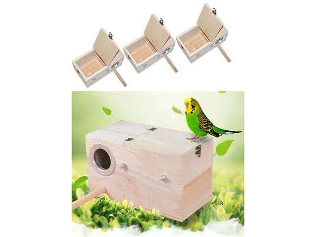3x Wooden Wild Bird Nest Box Nesting Feeding Feeder Station House & Stick M (725691581774 Home & Garden Lawn & Garden Outdoor Living) photo