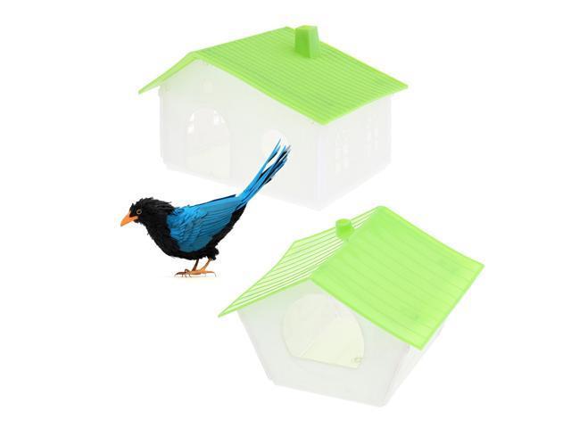 2Pcs Pet Bird Bird House Bird Nest Sparrows Breeding Nesting Bird Cage Box (763399529612 Hardware Tools Saws Table Saws) photo