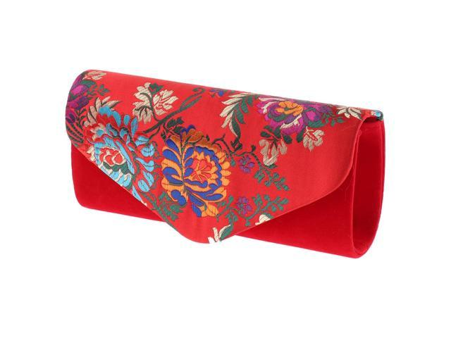 Women's Satin Embroidery Handbag Formal Party Purse Cocktail Evening Clutch (703656303005 Belts & Suspenders) photo
