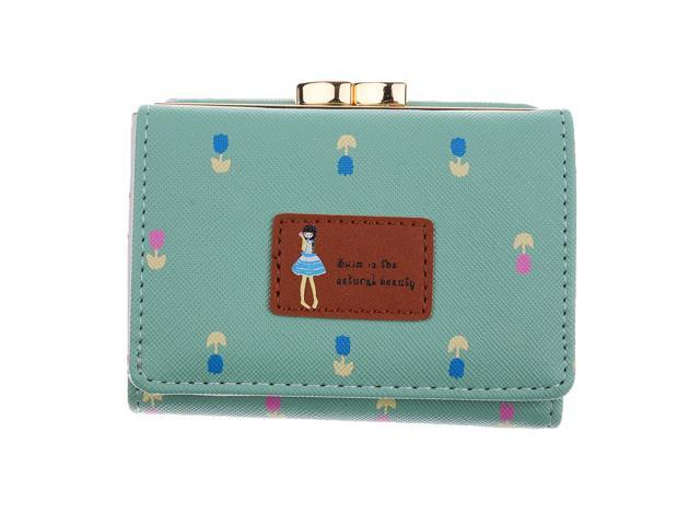 Womens Bifold Wallet Clutch Card Holders Purse Short Handbag Fruit Green (745270126028 Belts & Suspenders) photo