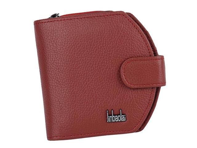 Womens Leather Wallet Clutch Cards Holder Coin Pocket Purse Red (753128358200 Belts & Suspenders) photo