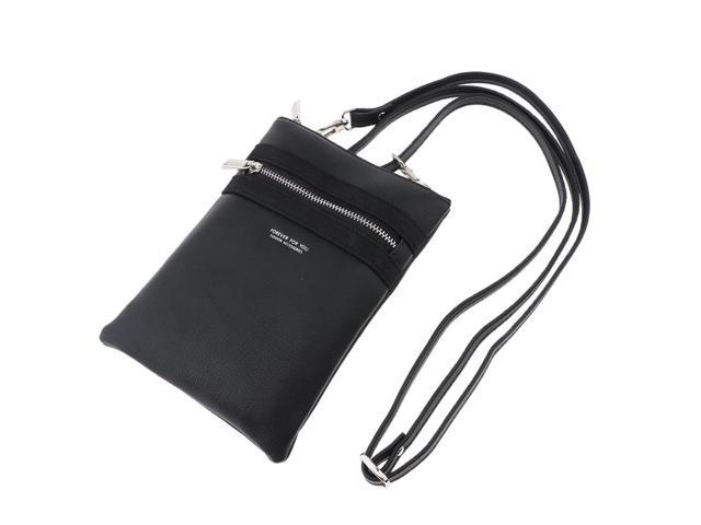 Women Girls Small Cell Phone Wallet Purse with Credit Card Slot Black (703666934169 Belts & Suspenders) photo