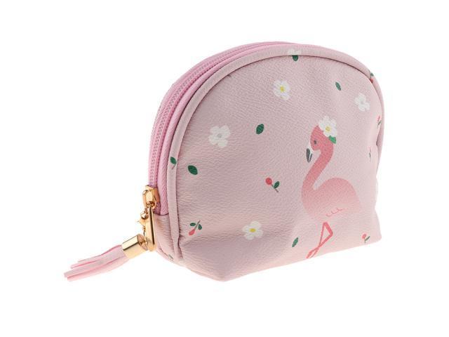 Cute Mini PU Leather Coin Bag Change Purse Wallet Key Pouch Women Girls Light Pink (703655705855 Belts & Suspenders) photo