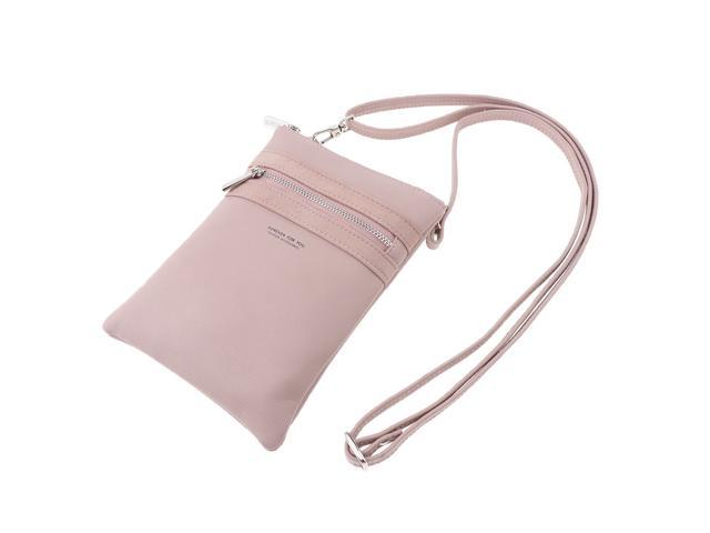 Women Girls Small Cell Phone Wallet Purse with Credit Card Slot Pink (703666934176 Belts & Suspenders) photo