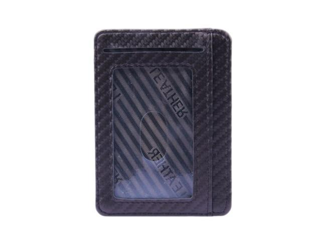 Mens Slim Leather Card Holder Front Pocket Wallet Change Coin Purse Coffee (760339638922 Belts & Suspenders) photo
