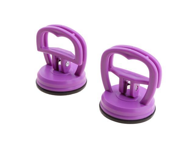 Pair Strong Suction Cup LCD Screen Removal Open for iPhone iPad Purple photo