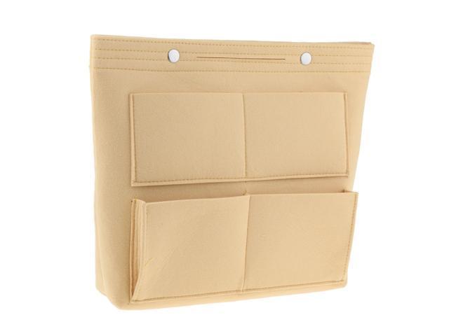 Large Felt Handbag Tote Purse Organizer Insert Liner Multi-Pocket Beige (753128535847 Belts & Suspenders) photo