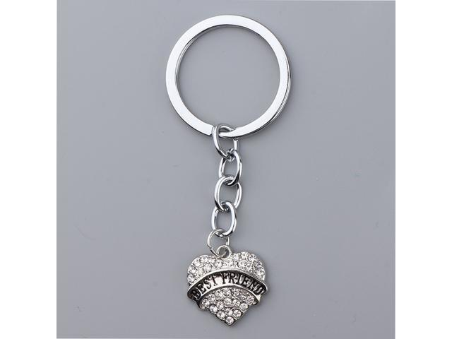 Crystal Rhinestone Key Chain Ring Purse Bag Charm Decor Keyring Keychain Best Friend (753128523592 Belts & Suspenders) photo