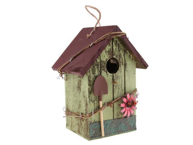 Country Cottages Wood Bird House Hanging Birdhouse Condo Garden Decor E (725987396327 Home & Garden Lawn & Garden Outdoor Living) photo