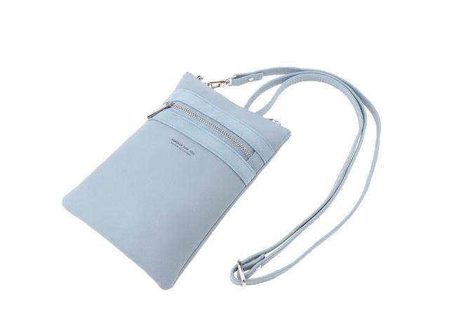 Women Girls Small Cell Phone Wallet Purse with Credit Card Slot Light Blue (703666934183 Belts & Suspenders) photo