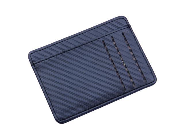 Mens Slim Leather Card Holder Front Pocket Wallet Change Coin Purse Black (760339638915 Belts & Suspenders) photo