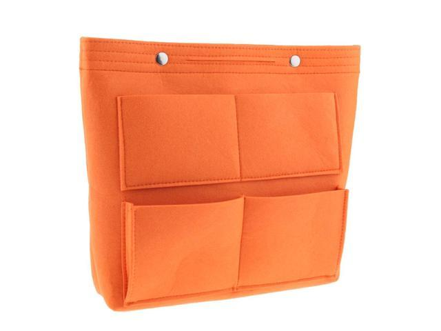 Large Felt Handbag Tote Purse Organizer Insert Liner Multi-Pocket Orange (753128535854 Belts & Suspenders) photo