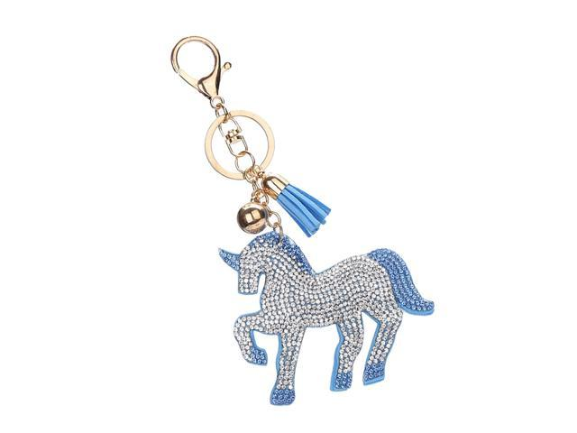 Women Girls Bag Purse Pendant Keyring Keychain Car Key Hanger White Blue (605020693791 Belts & Suspenders) photo
