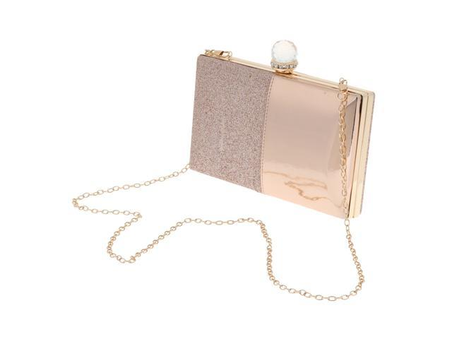Women's Glitter Clutch Bag Evening Handbag Wedding Prom Party Purse Pink (760339689061 Belts & Suspenders) photo