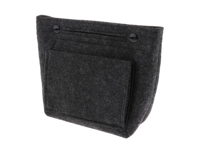 Felt Tote Handbag Insert Purse Organizer Cosmetic Pouch Shaper Bag in Bag Light Gray (605020437050 Belts & Suspenders) photo