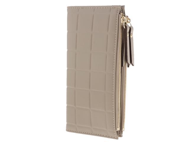 Women Clutch Bifold Wallet Long Card Case Purse Envelope Handbag Light Grey (605020917958 Belts & Suspenders) photo