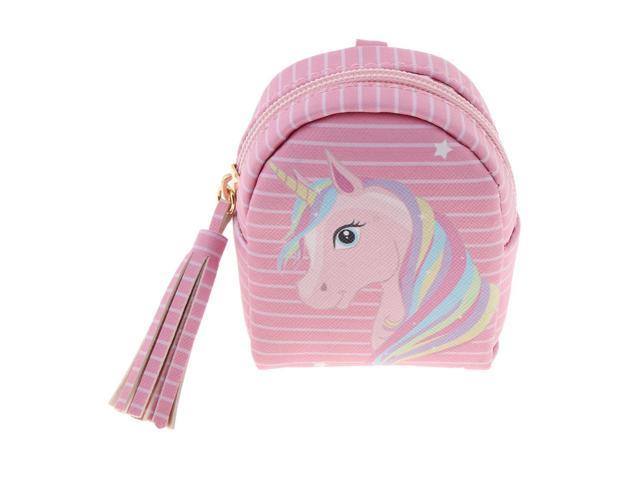 Girls Unicorn Coin Bag Change Purse Wallet Backpack PU Leather Key Pouch 6 (721838463675 Belts & Suspenders) photo