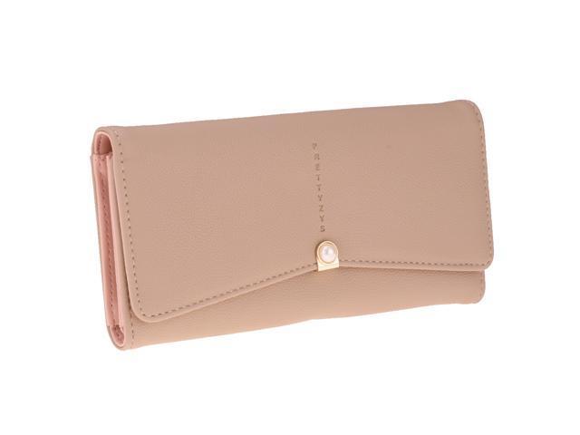 1 Piece Ladies Leather Purse Card Holder Long Wallet Light Camel (760339669384 Belts & Suspenders) photo