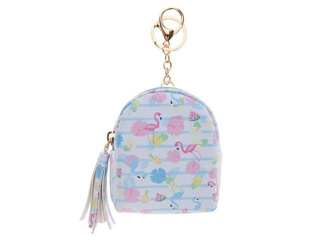 Womens Coin Purse Cash Bag Zipper Small Purse Wallets Flamingo Light Blue (760339654304 Belts & Suspenders) photo